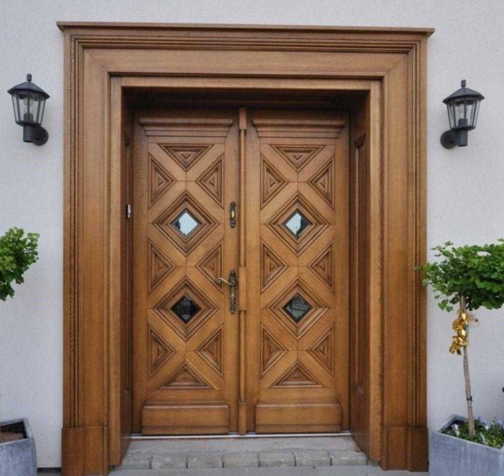 Kusen pintu dan daun pintu utama kayu jati