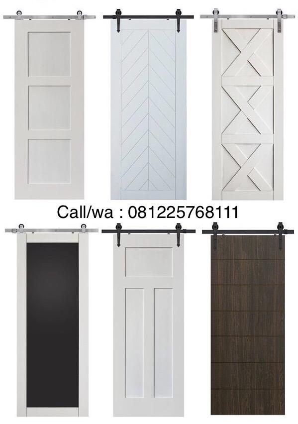 Pintu kamar sliding duco putih minimalis