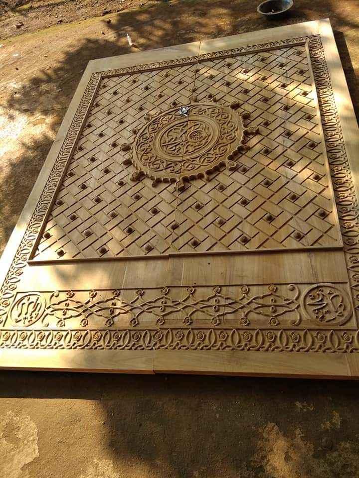Sampel Pintu Masjid Nabawi Ukir Langsung