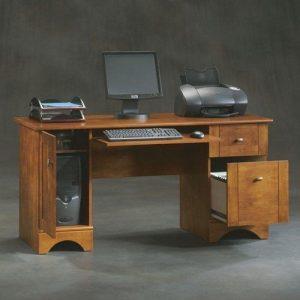 meja kantor jati desain terbaru minimalis elegan murah