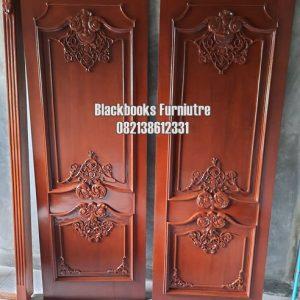 Pintu Klasik Ukiran Kayu Jati Jepara