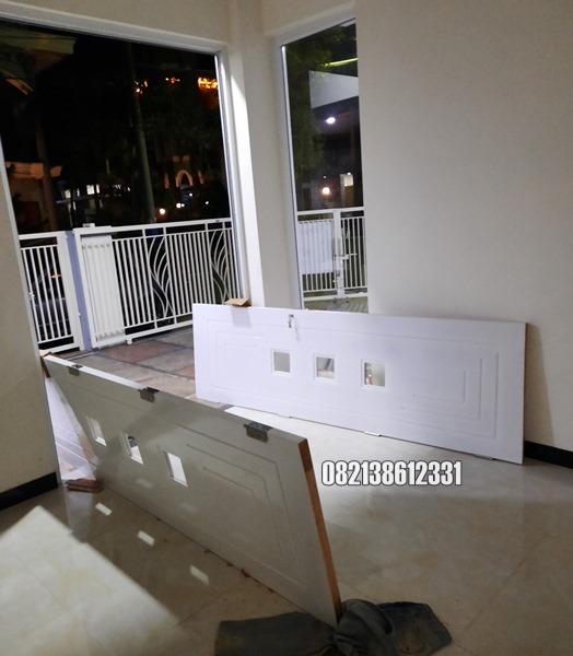 Pintu Utama Kupu Tarung Model Minimalis Jumbo Kayu Jepara