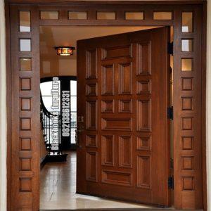 Pintu Rumah Minimalis Terbaru Kayu Jati Solid Jepara